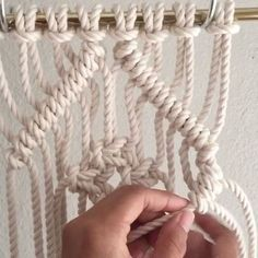 How to Tie a Square Knot Diamond Inside a Clove Hitch Diamond // Yes, I've posted this video before, but I thought to repost the most popular video of the year. I'll continue with new videos next Friday. Thank you for watching my #Thankgoodnessitsfiberfriday videos. // This video shows you how to tie a few Square Knots inside a Clove Hitch Diamond. It is decorative and used in Macrame wall hangings and Jewelry. // This video shows 8 1/4th inch cords at 5 feet each. Since folded in half and…