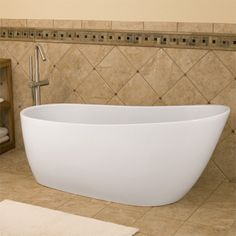 Winifred Resin Freestanding Tub | Tubs, Hardware and Bath