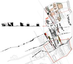 Exploded axonometric detailing urban implication of the scheme