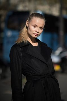Magdalena Frackowiak following Balmain's #ss16 show