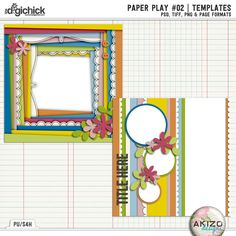 30% off Now! Paper Play #02 | Templates by Akizo Designs - for Digital Scrapbooking Layout Page
