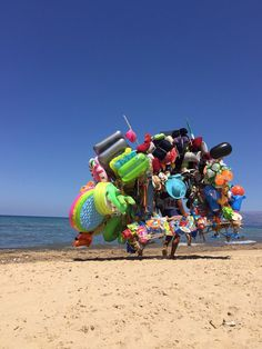 Beach products salesman (Sicily, Italy)