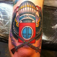 "82nd Airborne ""All the way!"" #InkedMagazine #tattoo #airborne #military #tattoos #art"