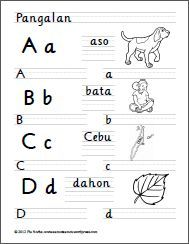 A to D Alphabet Writing Worksheets, Handwriting Worksheets, Grammar Worksheets, Alphabet Activities, Classroom Bulletin Boards, Play Based Learning, Tagalog, Activity Sheets, Writing Practice