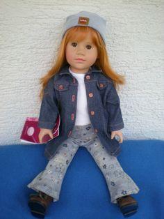 Götz Puppe Henrike 45 cm aus 2003 rothaarig Weichstehpuppe Gotz Doll | eBay