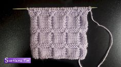 Узор спицами Квадраты. Вязания спицами # 409 Knitting Stiches, Sweater Knitting Patterns, Knitting Videos, Knitting Charts, Knitting Designs, Crochet Designs, Knit Patterns, Crochet Stitches, Baby Knitting