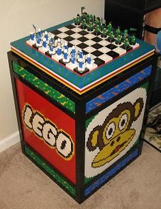 LEGO Chess Table Lego Stuff, Kid Stuff, Lego Chess, Lego Wall, Lego Pictures, Chess Table, Build A Wall, Lego Brick, Home Schooling