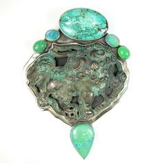 Chinese foo dog and turquoise.