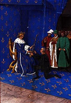 Charles V gives the sword of constable to Bertrand du Guesclin - 1460