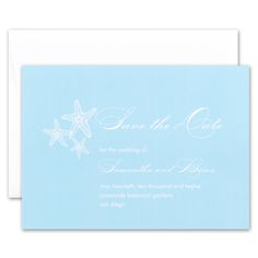 Seastars A Trio Of Whimsically Drawn Starfish Adorn These Soft Blue Save The Datesblank