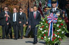 Via The Obama Diary | President Barack Obama Lays a Wreath at the Unknown Soldier's Tomb … photos, videos & a word or two.