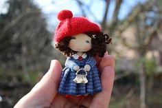 Birthday gift fabric doll dollhouse miniature dolls small