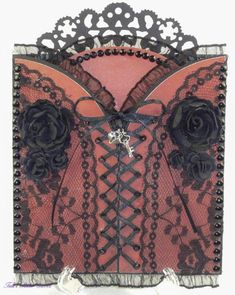 Corset Card — Key to My Heart.  Another beautiful card from one of my favourite designers, Tara Brown.