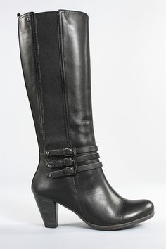 Pikolinos Verona Triple Strap Boot in Black