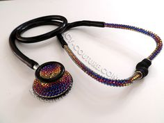 Meredian Ombre Stethoscope with Swarovski Crystals. Whats Your Color? Medical Gifts, Stethoscope, Nurse Life, Swarovski Crystals, Personalized Gifts, Beaded Necklace, Bling, Sports Medicine, Couture