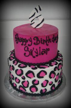 Pink Cheetah Cake | Pink Cheetah