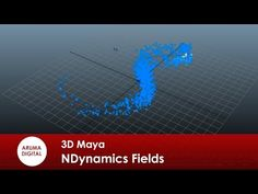 3D Maya 194 Maya NDynamics Fields Campos de fuerza - YouTube