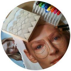 Geometric art //  Face study, mask, geometry