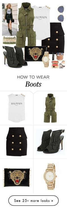 """Untitled #93"" by mgadom on Polyvore featuring Balmain, Dolce&Gabbana, Christian Dior, Marissa Webb, Charlotte Russe and DKNY"