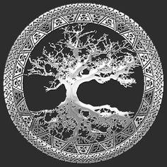 Yggdrasil+Tree+of+Life | Captain7 › Portfolio › Celtic Tree of Life, Yggdrasil [Silver]