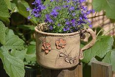Cement Art, Vase, Potted Plants, Planter Pots, Lavender, Sculpture, Pottery Ideas, Stuff To Buy, Clays