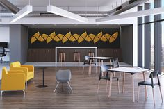One of the best ways to improve productivity and collaboration is to create spaces that allow creative collisions. And with the trend towards breakout zones in today's offices, more of us are collaborating than ever before.