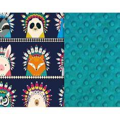 7b3d457134f50 La Millou - Kocyk Niemowlaka 65x75 cm Indian ZOO Teal / 0+ / neutralne -  dla Każdego / NA PREZENT - Mamissima - zabawki, akcesoria dla dzieci i  rodziców.