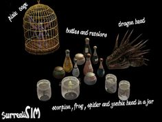 SurrealiSIM Sims 2 downloads: Witchy ingredients set