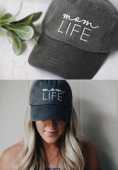 Mom Life baseball cap | soft gray casual style hat | mother's day gift idea | baby shower or new mom gift | #momlife #affiliate