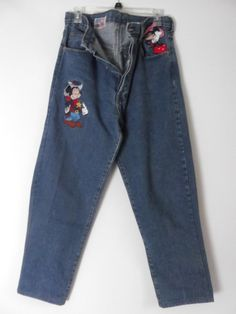 Vintage Embroidered Disney Characters Jeans TOO by rileybella123, $35.00