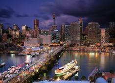 Sydney, Australia, Wieżowce, Most, Rzeka Sydney Australia, New York Skyline, Travel, Trips, Viajes, Traveling, Outdoor Travel, Tourism