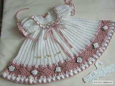 Fotos Lindos VESTIDOS de tricô para bebê - Como fazer passo a passo   Vest Decor