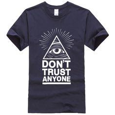summer 2017 men's T-shirts Dont Trust Anyone Illuminati All Seeing Eye T-shirt letter pattern t shirt crossfit suit tops tees #Men's T-shirts http://www.ku-ki-shop.com/shop/mens-t-shirts/summer-2017-men-s-t-shirts-dont-trust-anyone-illuminati-all-seeing-eye-t-shirt-letter-pattern-t-shirt-crossfit-suit-tops-tees/