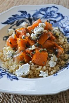 Arroz Yamani con calabaza, tomillo y queso de cabra | Yamani rice with pumpkin, thyme and goat cheese