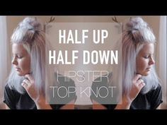 Half Up Half Down Hipster Top Knot • Easy Everyday Hairstyle | ShinyLipsTv