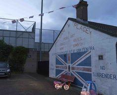 unionistischer Hinterhof in East - Belfast, Nordirland