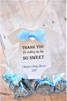 10 tags ~ Thank you for making my day so sweet ~ Baby Shower Favor Tags ~ Custom Gift Labels ~ Personalized Hang Tags ~ 2 ~ White - Baby Diy Baby Shower Thank You Gifts, Baby Shower Gift Bags, Baby Shower Party Favors, Baby Shower Parties, Baby Favors, Baby Shower Labels, Baby Shower Guest Gifts, Cricut Baby Shower, Baby Shower Favours For Guests