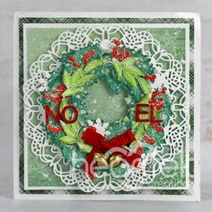 Holiday Cards, Christmas Cards, Holiday Decor, Heartfelt Creations, Christmas Inspiration, Greeting Cards Handmade, Cardmaking, Christmas Wreaths, Paper Crafts