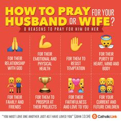 Catholic-Link's Library - Infographic: How to pray for your husband or wife?
