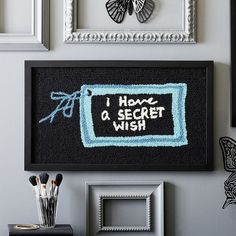 """PB Teen Anna Sui """"I Have a Secret"""" Hook and Loop Wall Art ($159) ❤ liked on Polyvore featuring home, home decor, wall art, colorful home decor, colorful wall art, pbteen, anchor home decor and anchor wall art"""