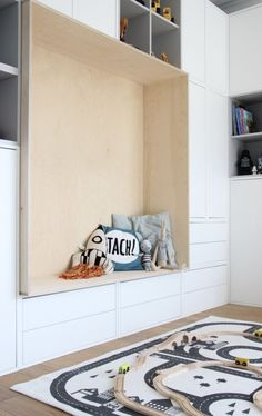 The new wall unit and favorite decoration for the children's room … – Furniture Ideas Kids Room Furniture, Design Furniture, Ikea Furniture, Ikea Hack Bench, Ikea Hack Bedroom, Bedroom Storage, New Wall, Ikea Hallway, Ikea Eket
