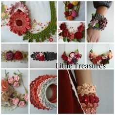Little Treasures beautiful #crochet jewelry and accessories