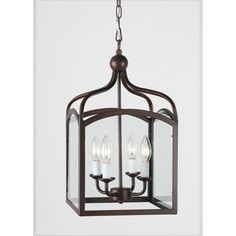 Ashley Antique Copper 4-light Foyer Hanging Lantern | Overstock.com Shopping - The Best Deals on Chandeliers & Pendants