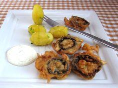 Vyprážané šampiňóny v cestíčku Muffin, Breakfast, Food, Basket, Cooking, Morning Coffee, Essen, Muffins, Meals