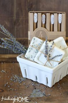 Homemade Goat's Milk Melt and Pour Soap Gift Basket for Mom