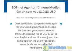 Notifikasi pembayara Notifikasi pembayaran Online Survey Prediki melalui PayPal | SurveiDibayar.com