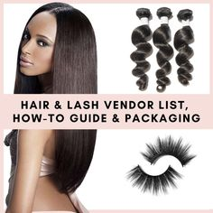 Hair and Lash Wholesale Vendor Bundle - Vendors, Guide and Packaging #hairvendors #lashvendors #lashpackaging #hairpackaging #bundles #wholesalehair #wholesalelashes Wholesale Hair, Wholesale Clothing, Edge Control, Hair Boutique, Popular Hairstyles, Lace Front Wigs, Eyelashes, Packaging, Online Boutiques