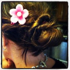 rose-shaped bun