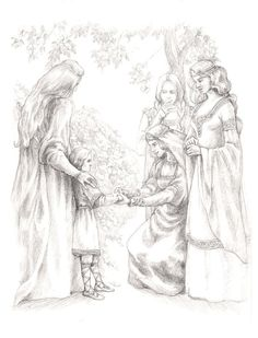 First meeting by tuuliky on deviantART. Finrod meets Amarie for the first time.