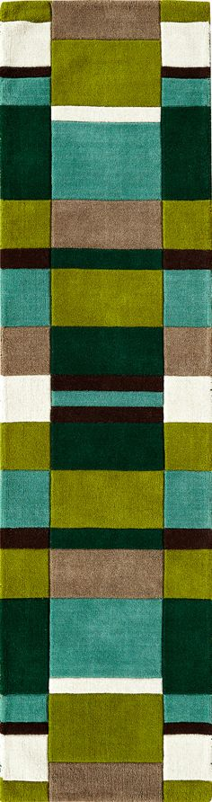 Jazz Blocks Green Runner Rug: http://www.love-rugs.com/?action=view_rug&id=1098